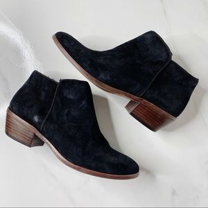 Sam Edelman Petty Black Suede Ankle Boots 5.5